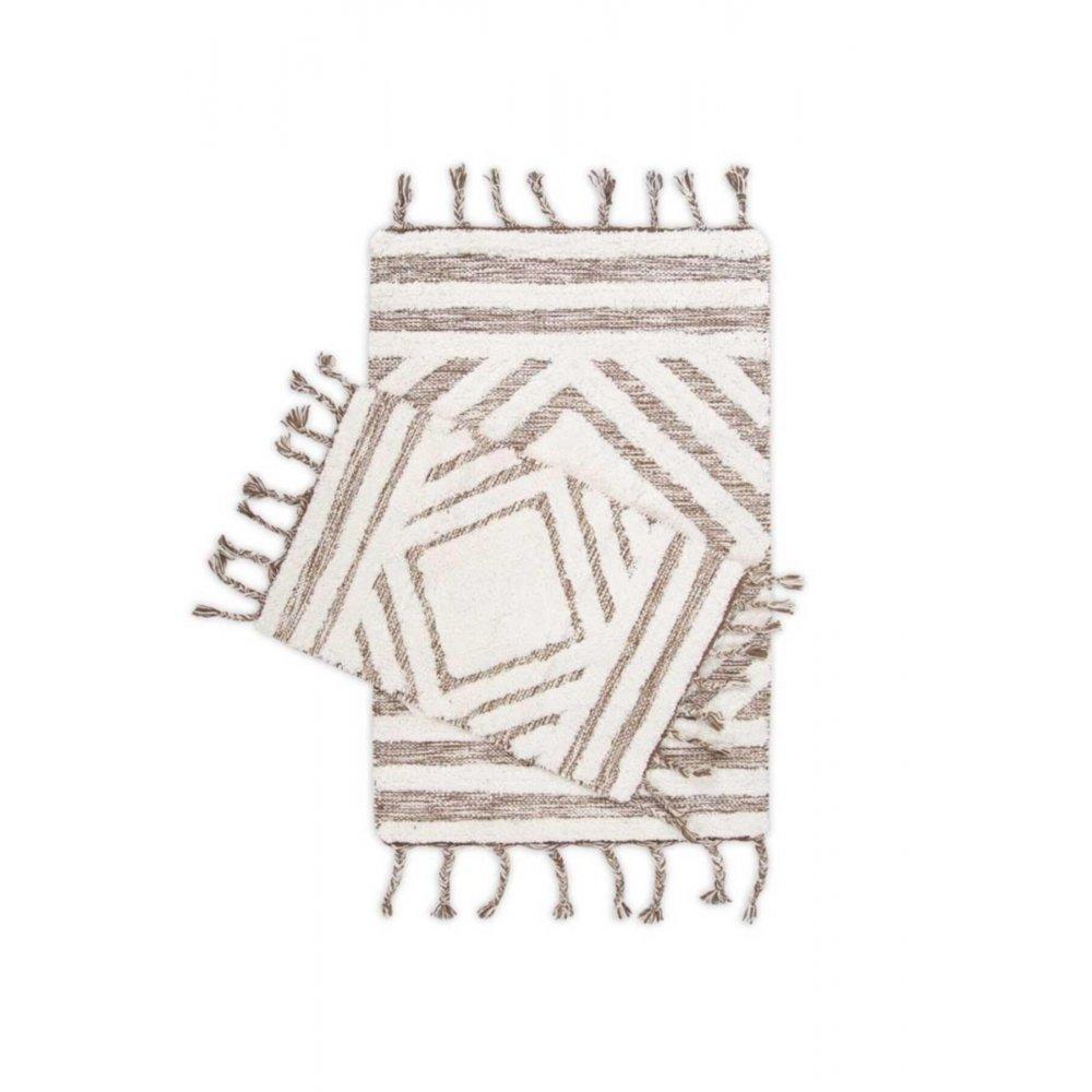 Набор ковриков Irya - Hoover kahverengi/ekru кофейный/молочный 60*90+40*60