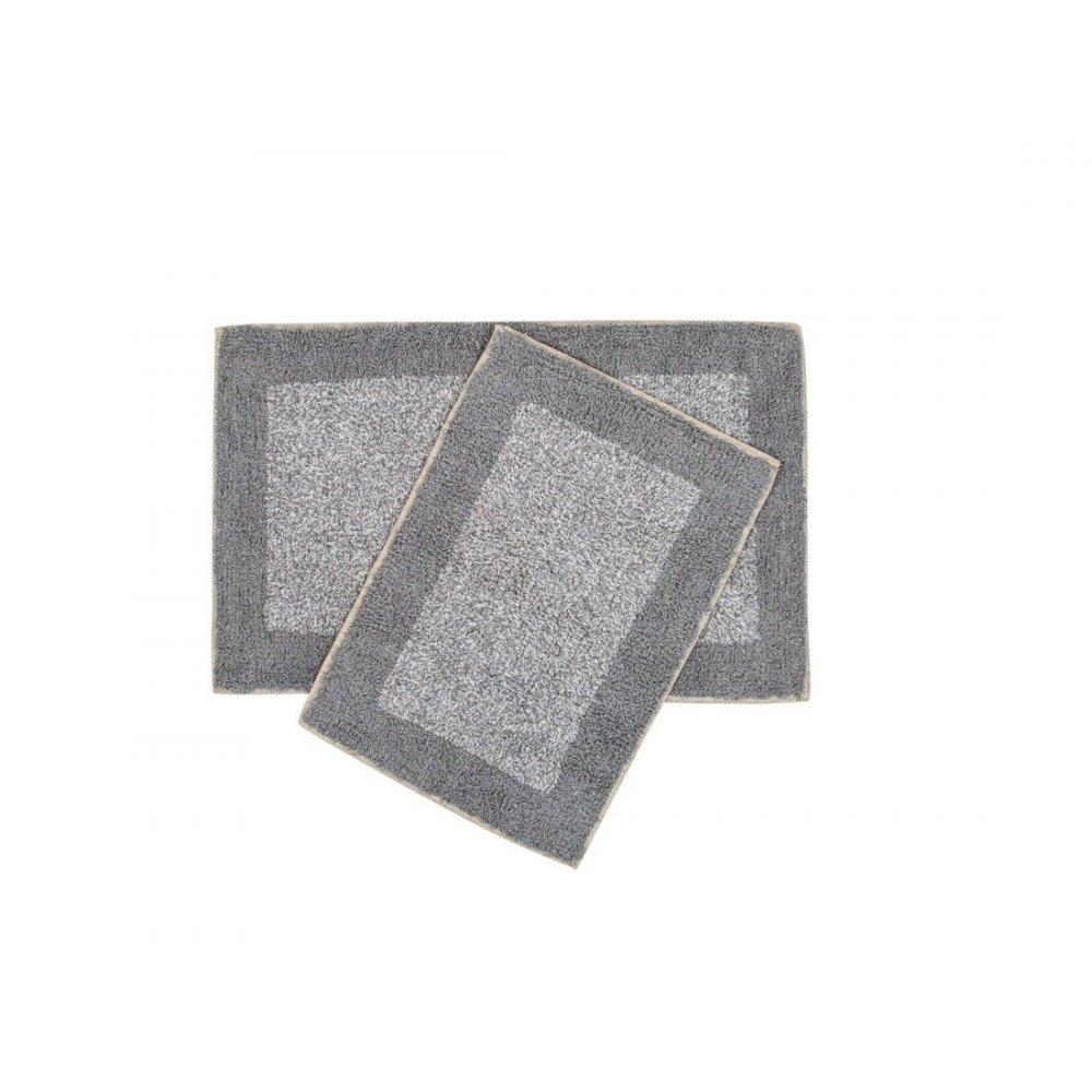 Набор ковриков Shalla - Fabio gri серый 40*60+50*80