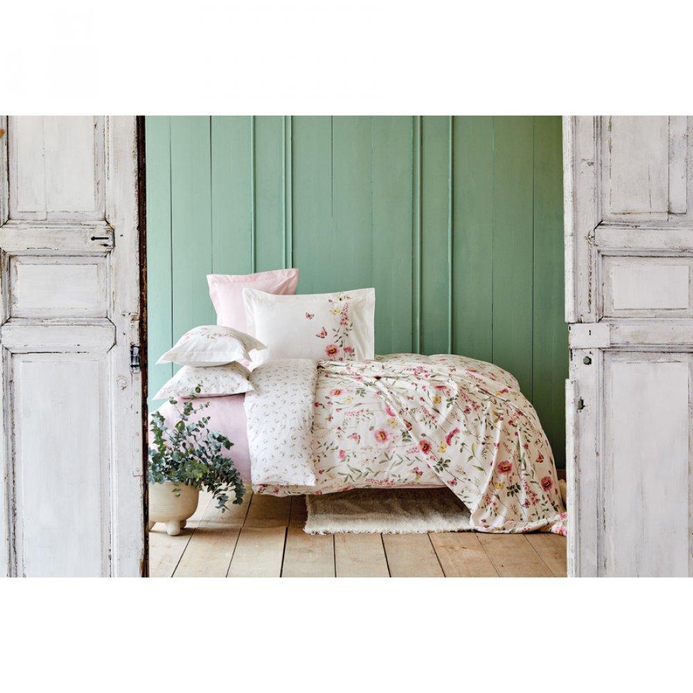 Набор постельное белье с покрывалом пике Karaca Home - Lorenzo lila лиловый евро