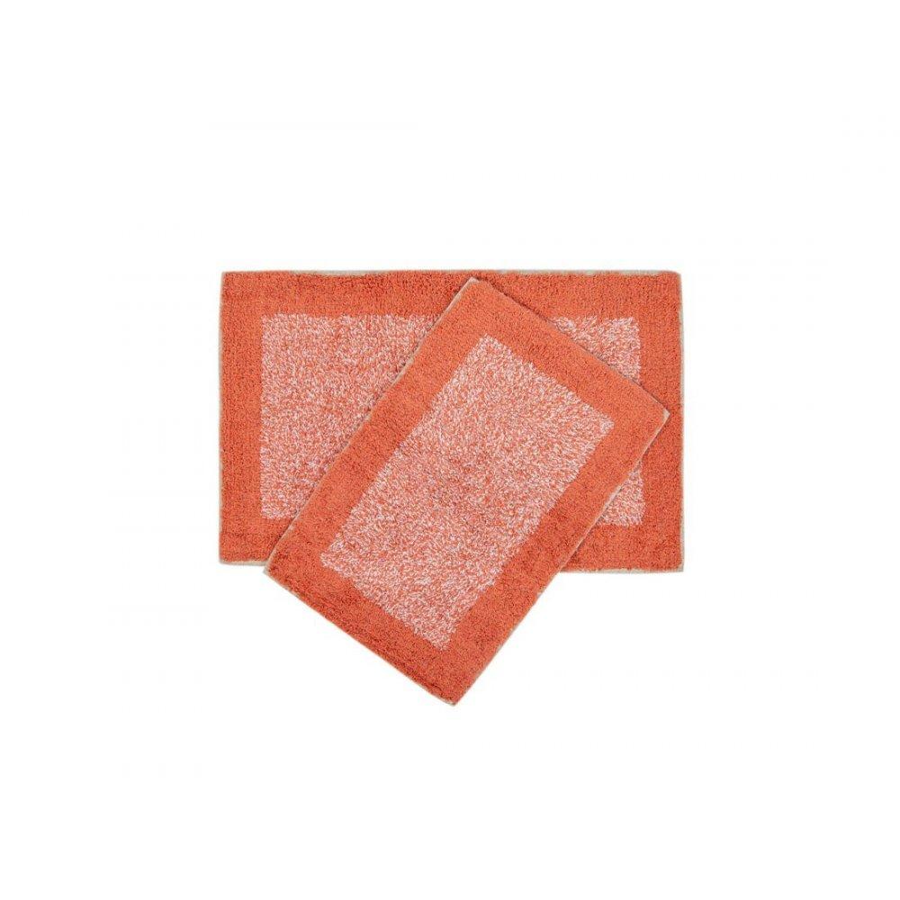 Набор ковриков Shalla - Fabio mercan коралловый 40*60+50*80