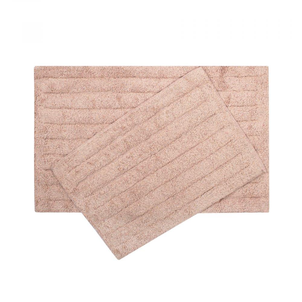 Набор ковриков Shalla - Dax mercan коралловый 40*60+50*80