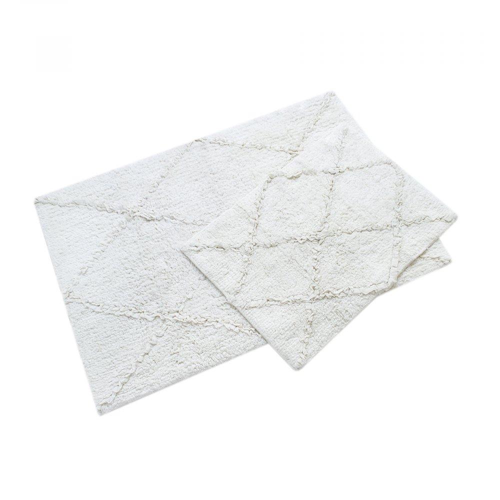 Набор ковриков Irya - Nadia beyaz белый 60*90+40*60