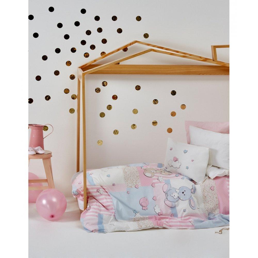 Детский плед в кроватку Karaca Home - Honey Bunny pembe 2017-1 100*120