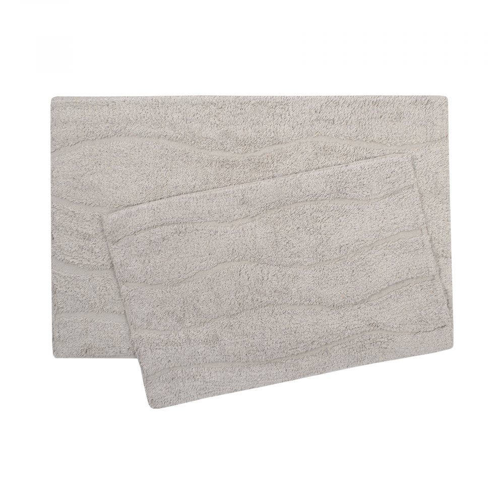 Набор ковриков Shalla - Melba gri серый 40*60+50*80