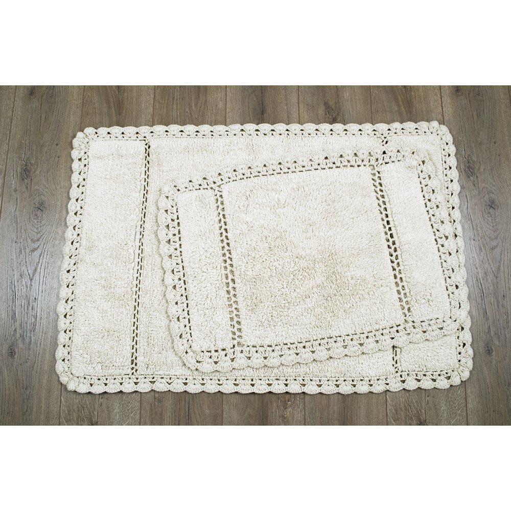 Набор ковриков Irya - Lorinda ekru молочный 60*90+40*60