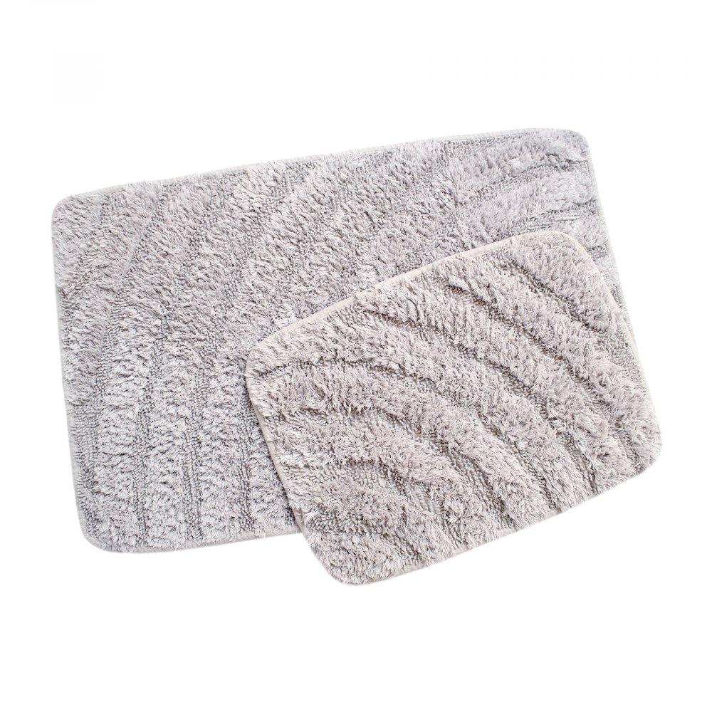 Набор ковриков Irya - Porter a.gri светло-серый 60*90+40*60