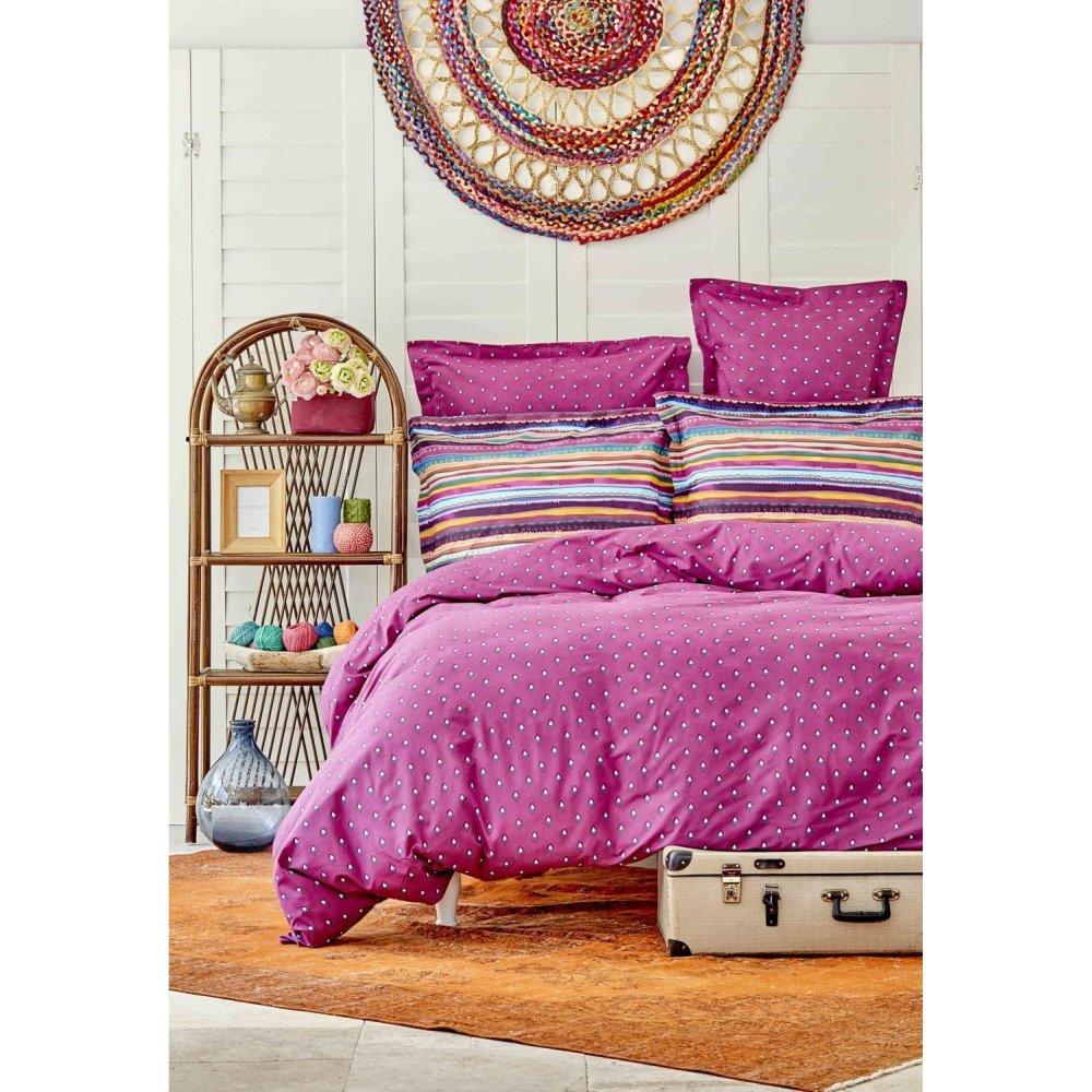 Набор постельного белья Sarah Anderson - Adya mor фиолетовый 200*220 евро
