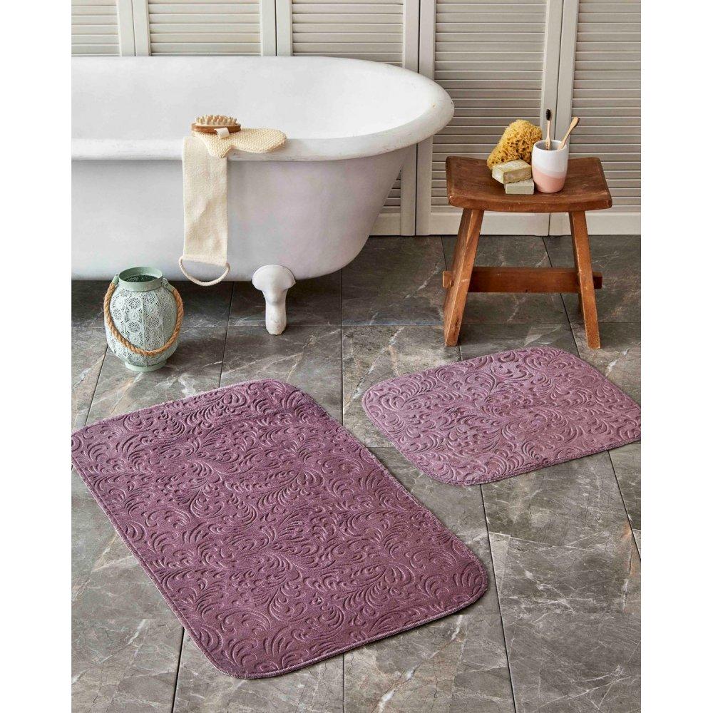 Набор ковриков Karaca Home - Delora murdum фиолетовый 60*100+50*60