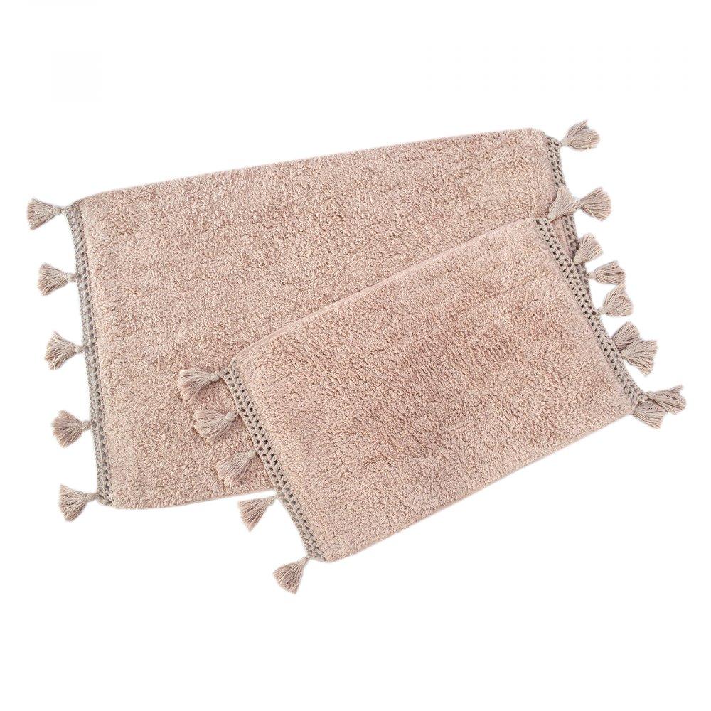 Набор ковриков Irya - Janel pembe розовый 60*90+40*60