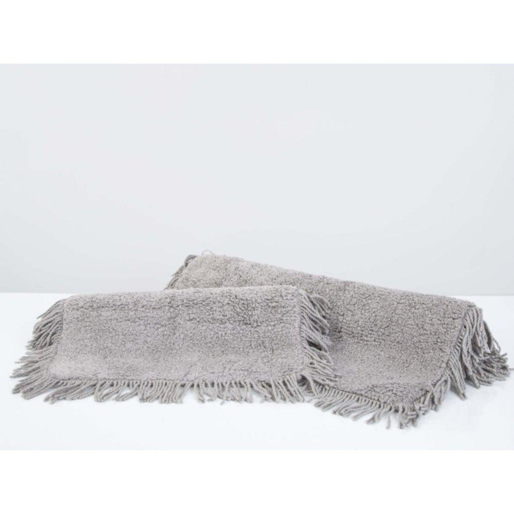 Набор ковриков Irya - Loris gri серый 60*90+40*60