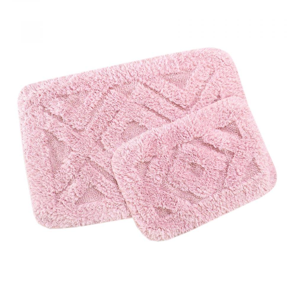 Набор ковриков Irya - Barnes pink розовый 60*90+40*60