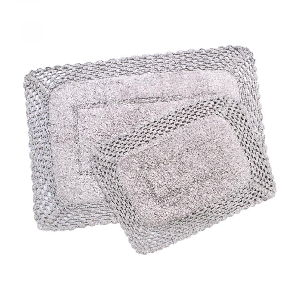 Набор ковриков Irya - Lizz lila лиловый 80*120+45*65