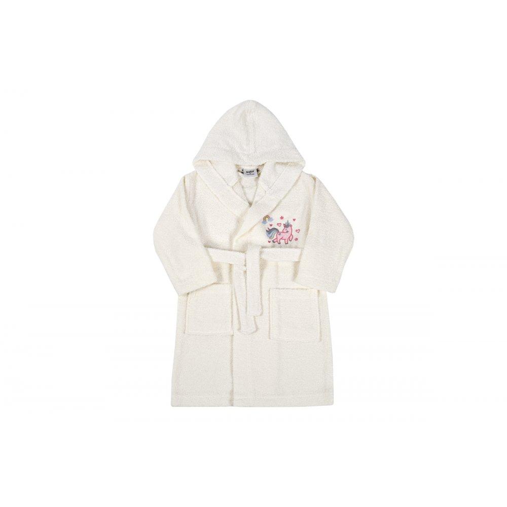 Детский халат Karaca Home - Digna Offwhite 2020-2 кремовый 6-8 лет