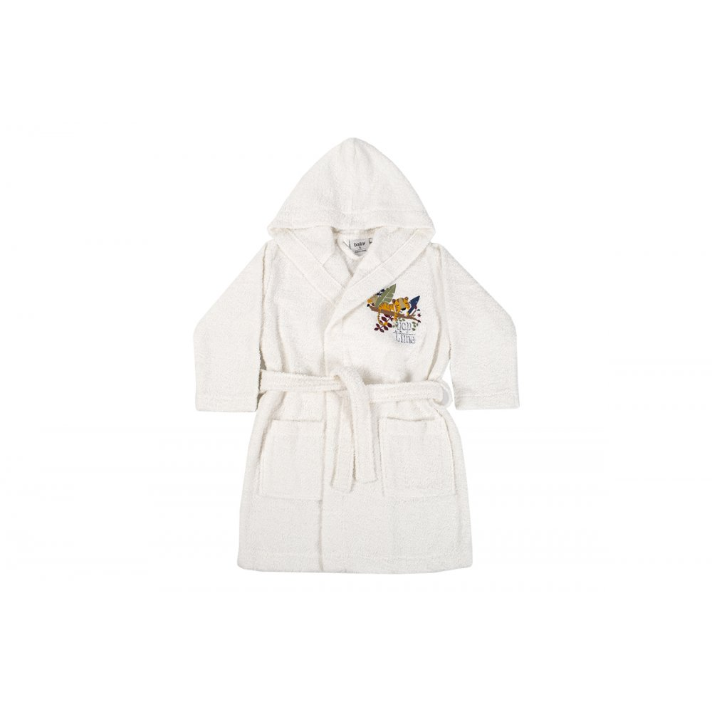 Детский халат Karaca Home - Bummer Offwhite 2020-2 кремовый 6-8 лет