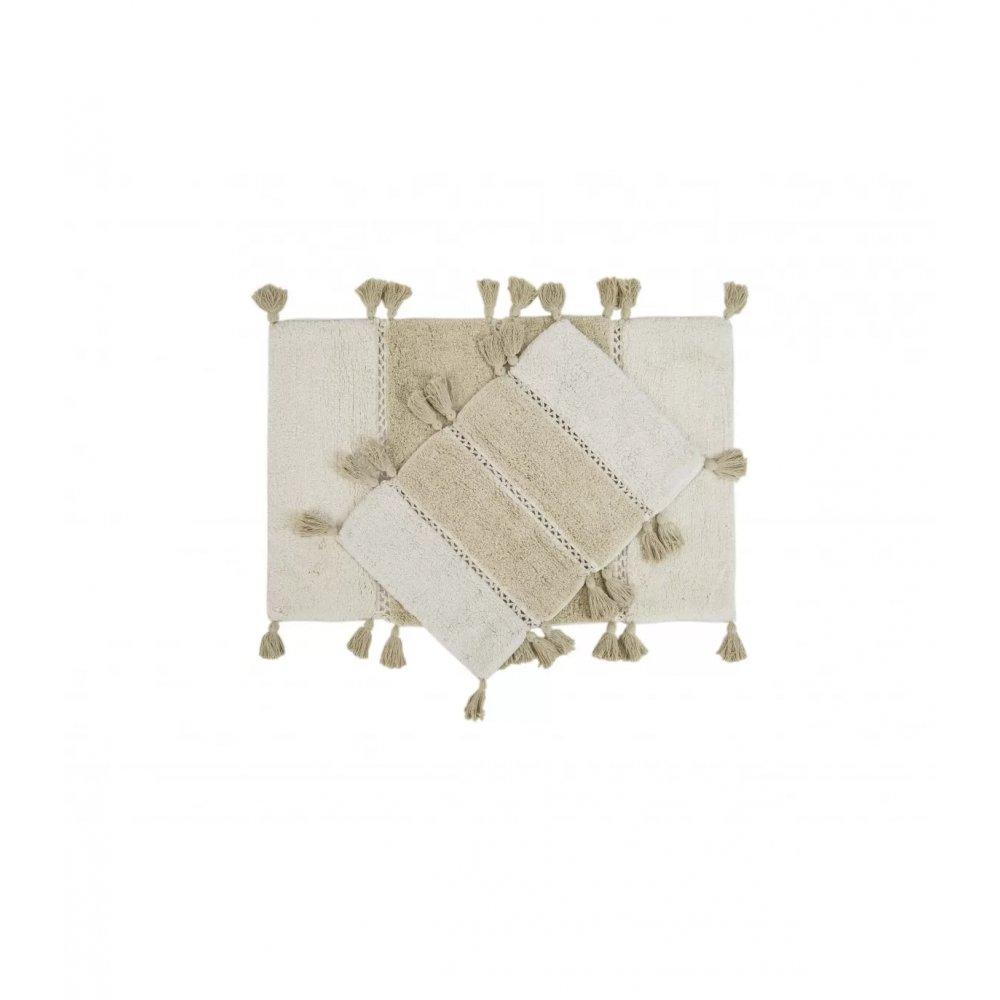 Набор ковриков Irya - Venus ekru молочный 60*90+40*60
