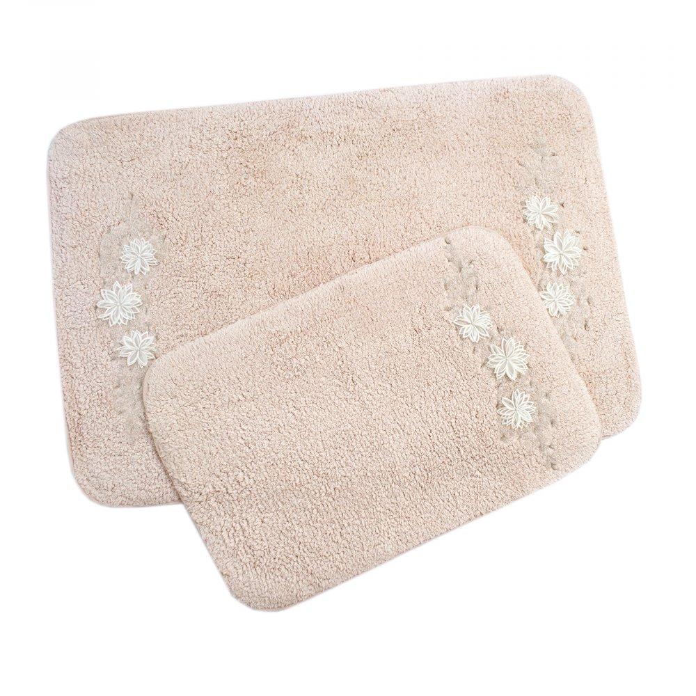 Набор ковриков Irya - Desire pudra пудра 60*90+40*60