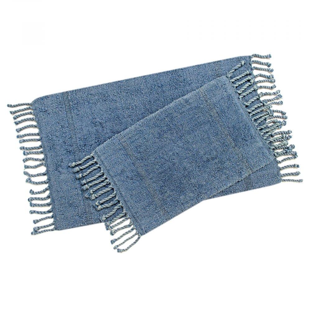 Набор ковриков Irya - Paloma denim синий 60*90+40*60