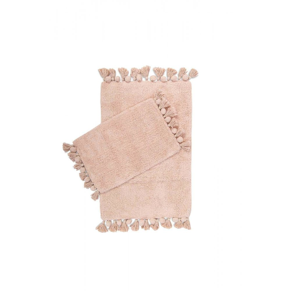 Набор ковриков Irya - Gala gul kurusu розовый 55*85+35*55