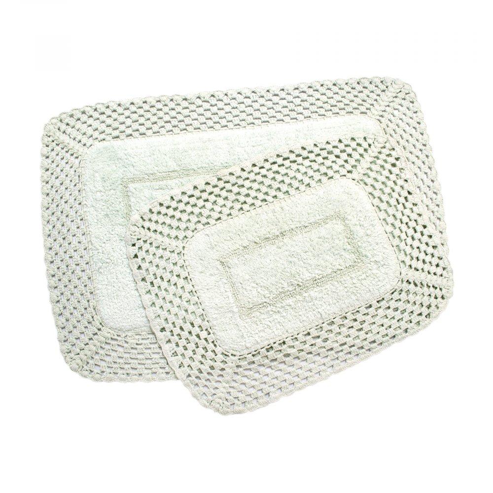 Набор ковриков Irya - Lizz mint ментоловый 80*120+45*65