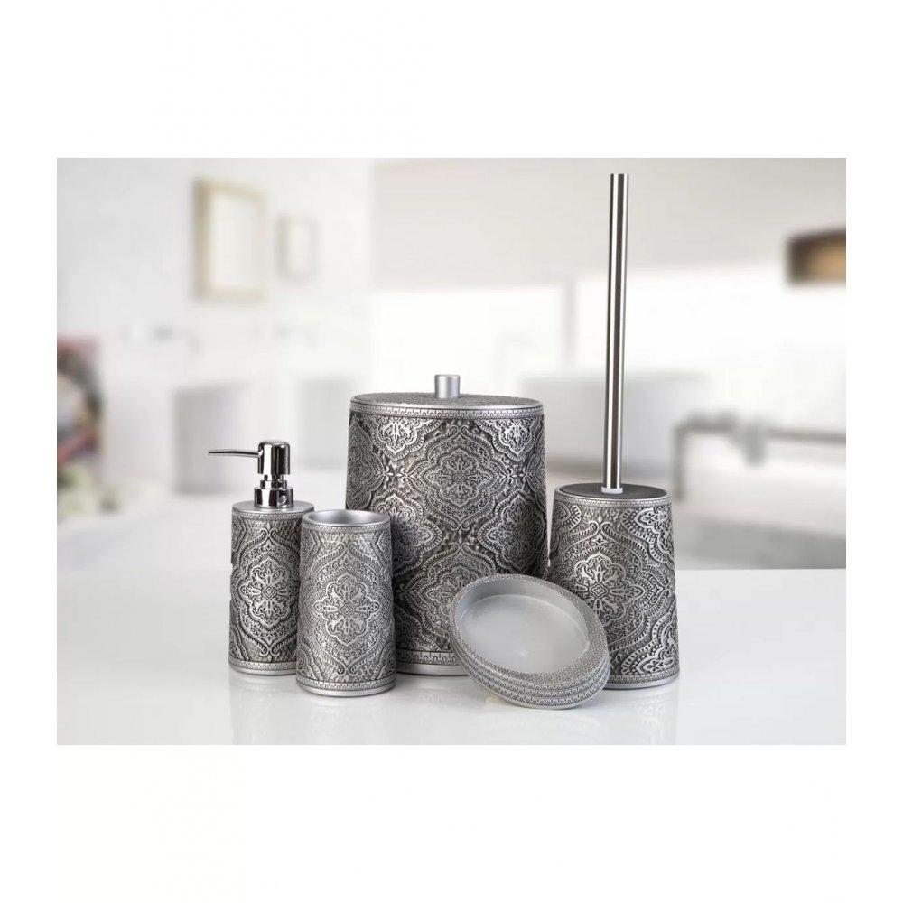 Комплект в ванную Irya - Lane gri серый (5 предметов)