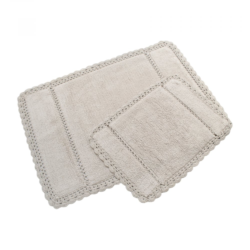 Набор ковриков Irya - Lorinda bej бежевый 60*90+40*60
