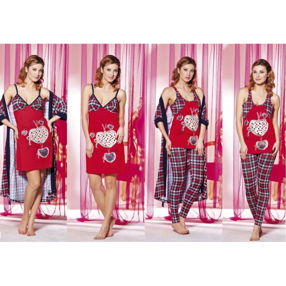 Домашняя одежда Lady Lingerie - 13300 ST комплект (4 предмета)