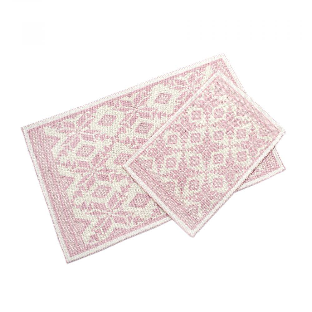 Набор ковриков Irya - Marlina pudra пудра 60*90+40*60