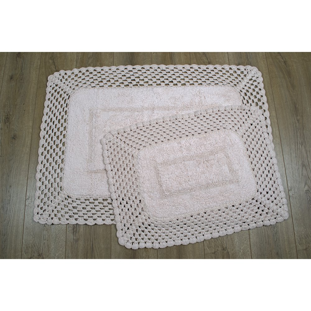Набор ковриков Irya - Lizz pembe розовый 80*120+45*65