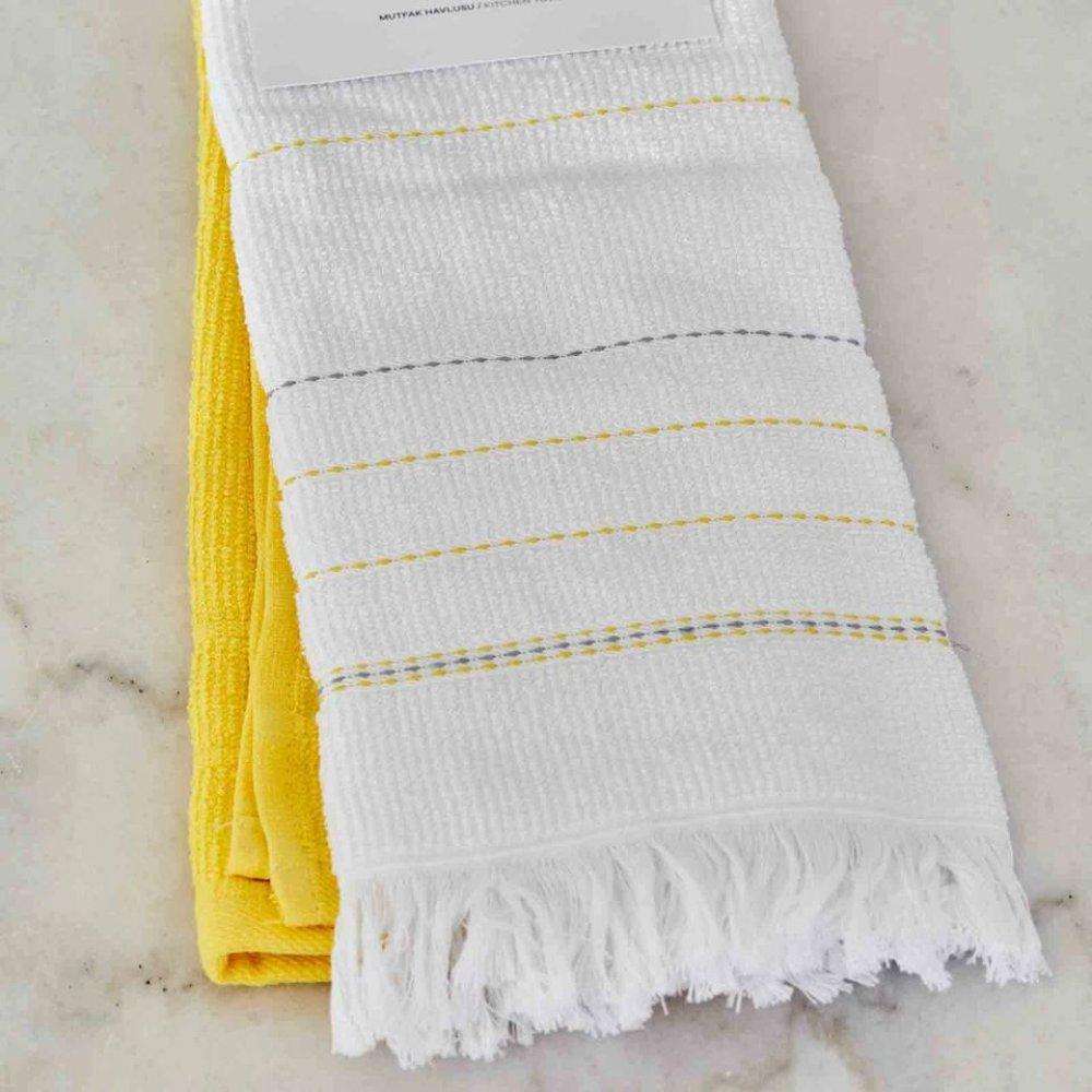 Набор кухонных полотенец Karaca Home - Alisa sari желтый 60*40 (2 шт.)