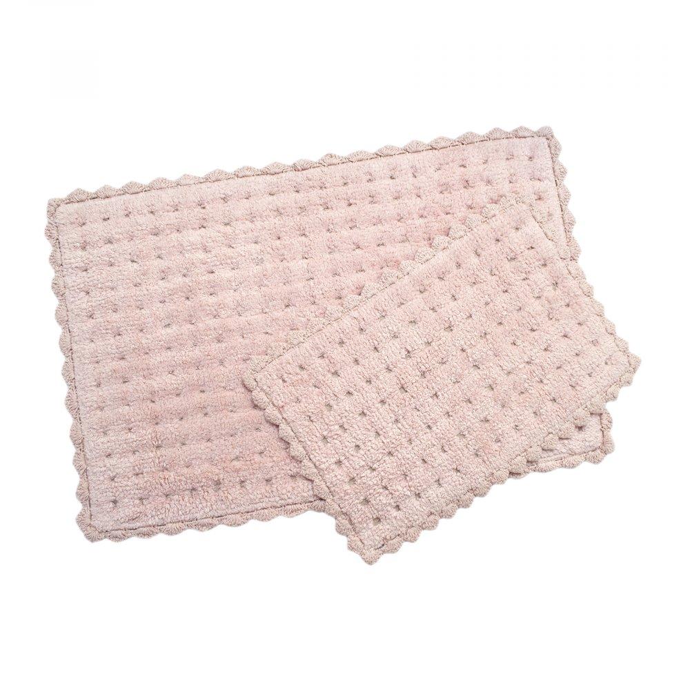 Набор ковриков Irya - Garnet pembe розовый 55*85+35*55