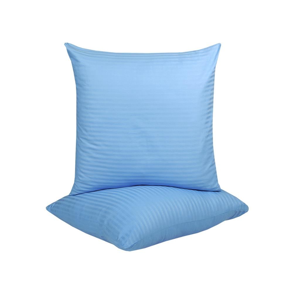 Наволочки Iris Home Отель - Сатин Страйп 1*1 голубой 70*70 (2шт)