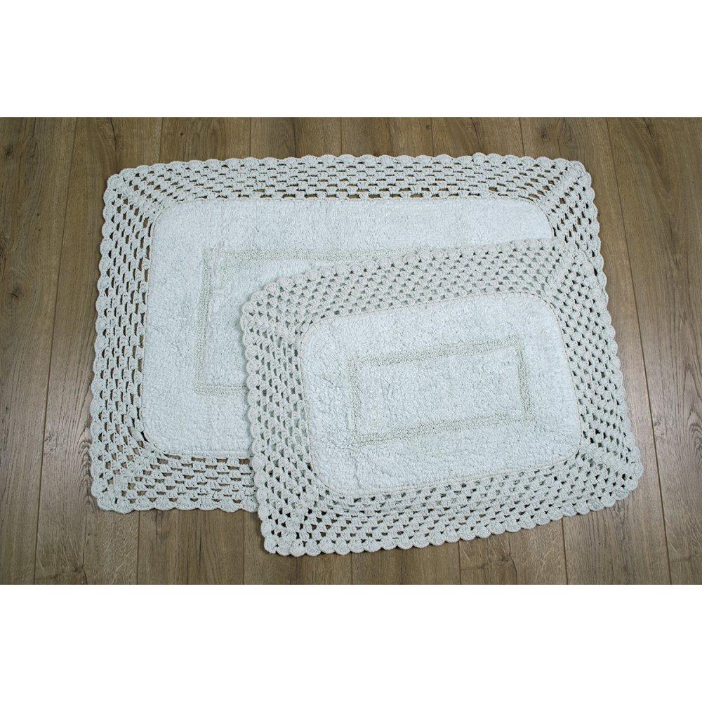 Набор ковриков Irya - Lizz mint ментоловый 70*100+45*65