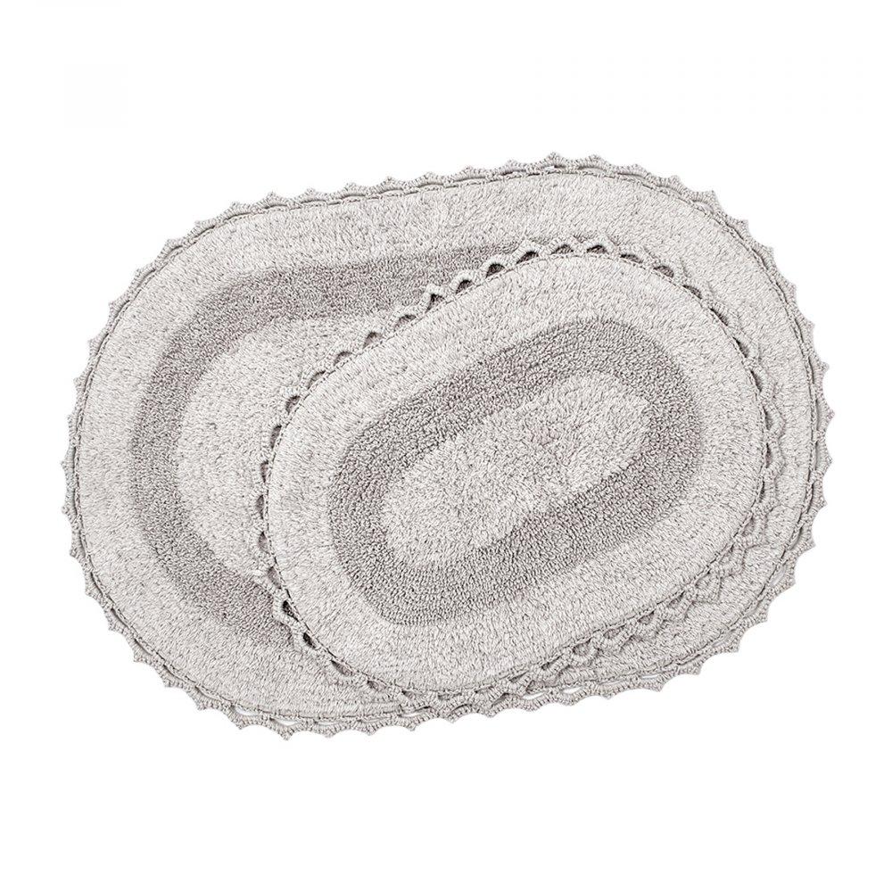 Набор ковриков Irya - Vermont a.gri светло серый 60*90+40*60