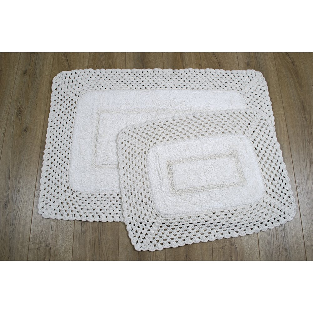 Набор ковриков Irya - Lizz krem кремовый 80*120+45*65