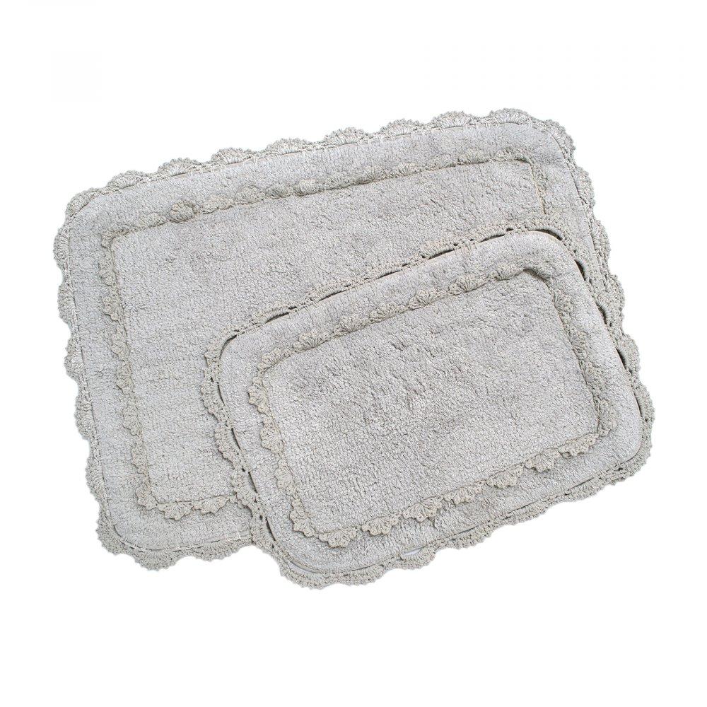 Набор ковриков Irya - Darya gri серый 60*90+40*60