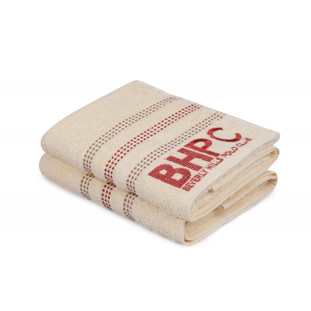 Набор полотенец Beverly Hills Polo Club - 355BHP1264 Botanik Cream 50*90
