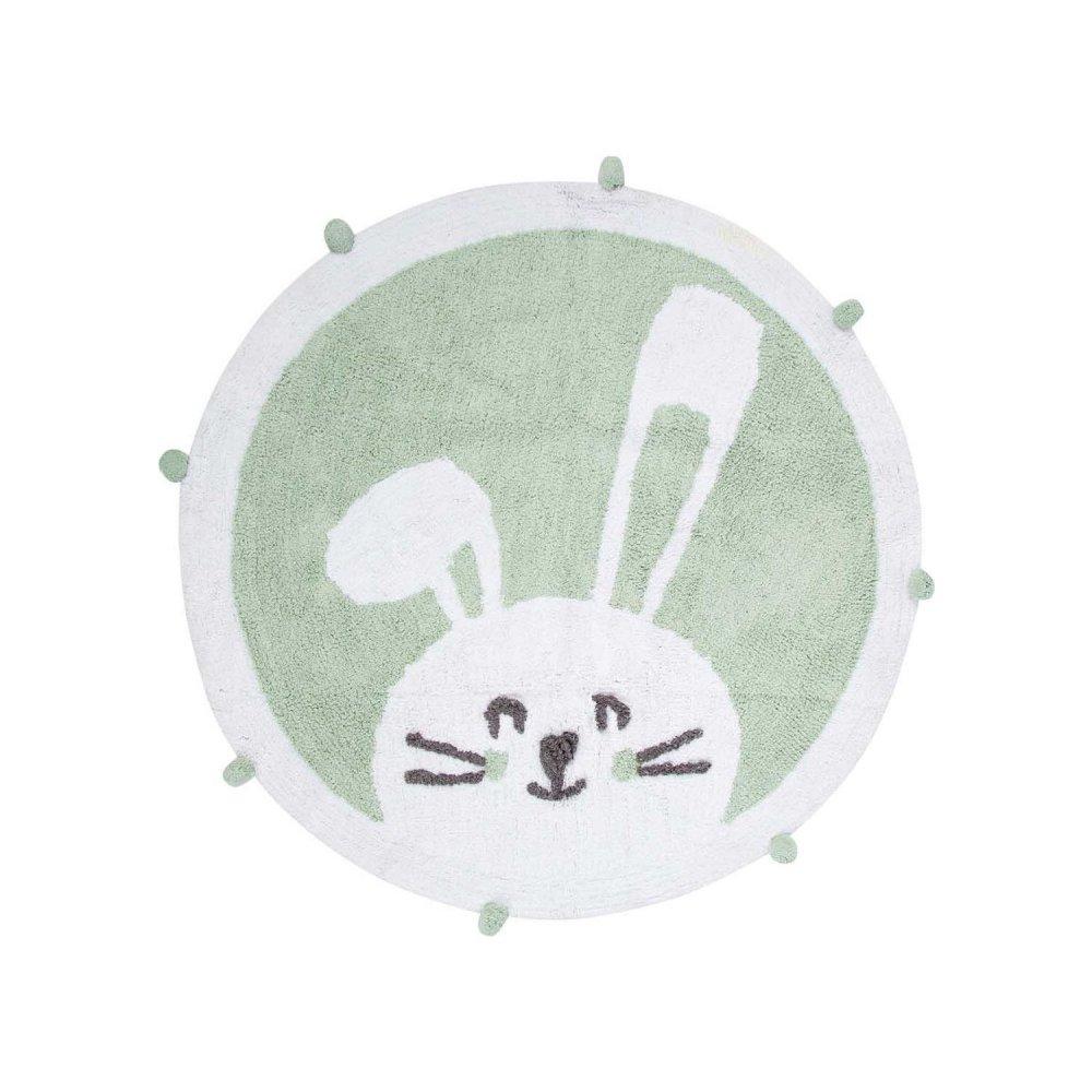 Коврик в детскую комнату Irya - Bunny mint ментоловый 110*110