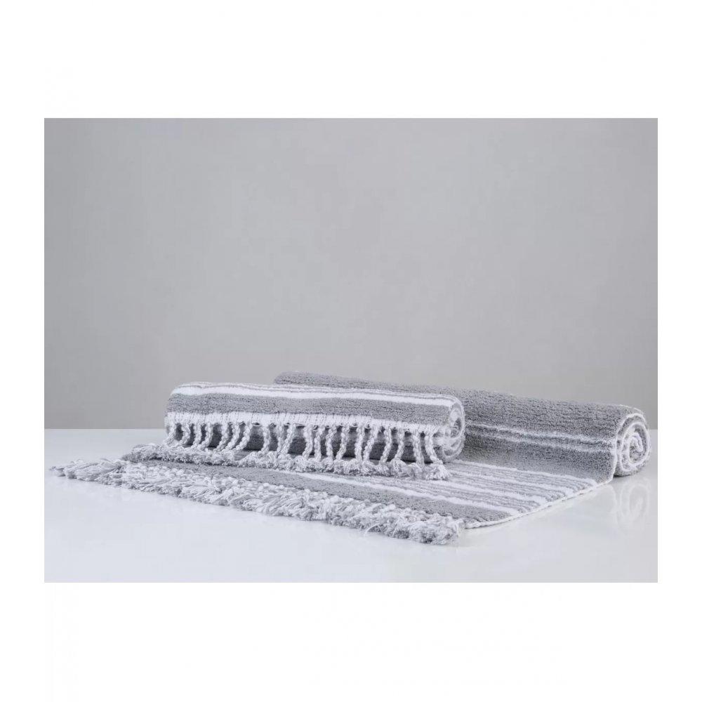 Набор ковриков Irya - Martil gri серый 60*90+40*60