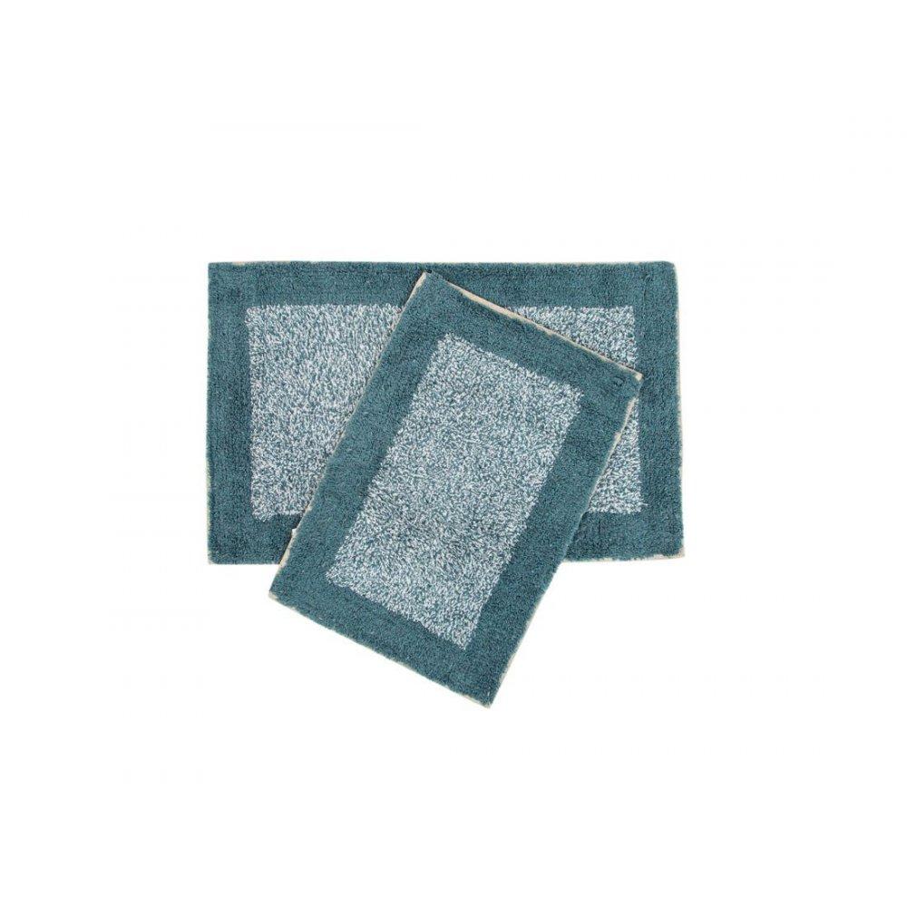 Набор ковриков Shalla - Fabio petrol mavisi синий 40*60+50*80