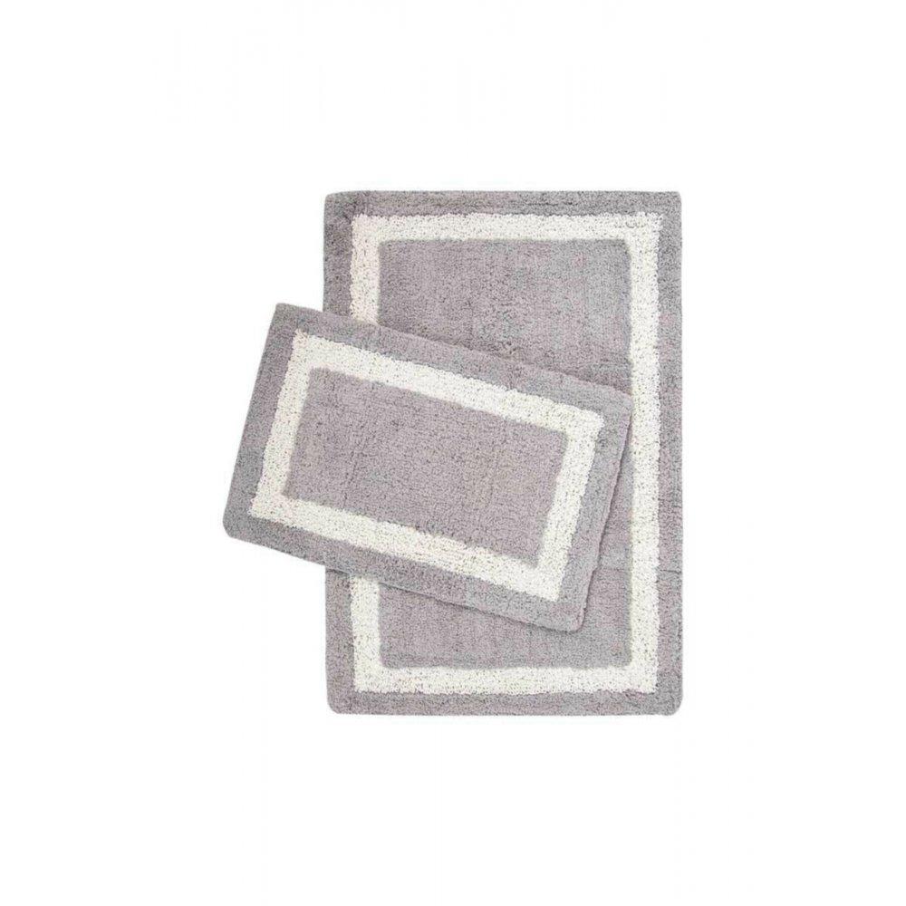 Набор ковриков Irya - Liberte gri серый 60*90+40*60