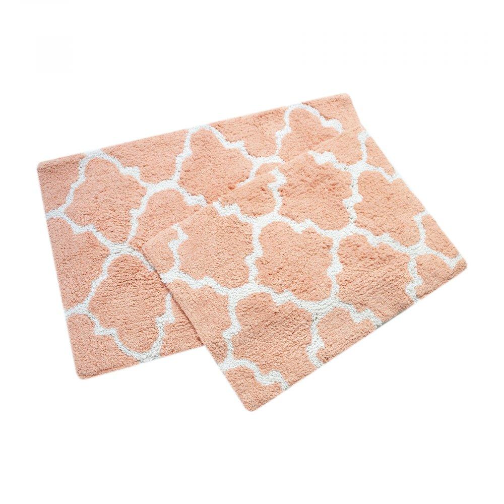 Набор ковриков Irya - Bali narcicegi персиковый 50*80+45*60