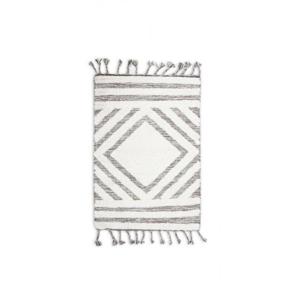 Коврик Irya - Hoover siyah/ekru черный/молочный 70*110