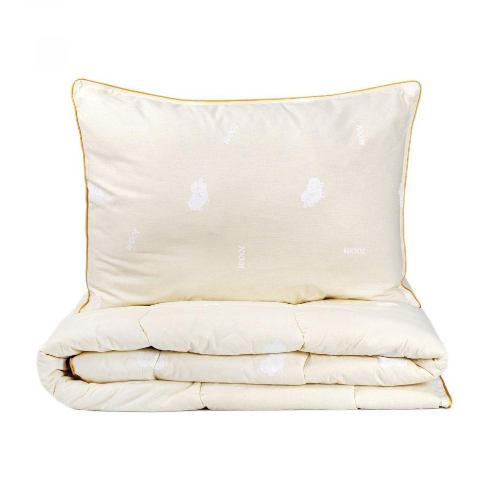 Набор одеяло с подушкой Karaca Home - Wool шерстяной 155*215 полуторный
