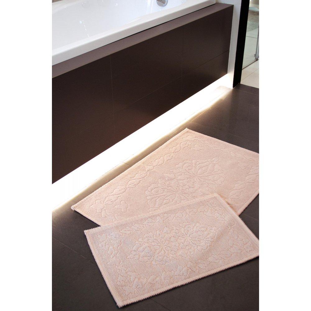 Набор ковриков Irya - Carissa pudra пудра 60*90+40*60