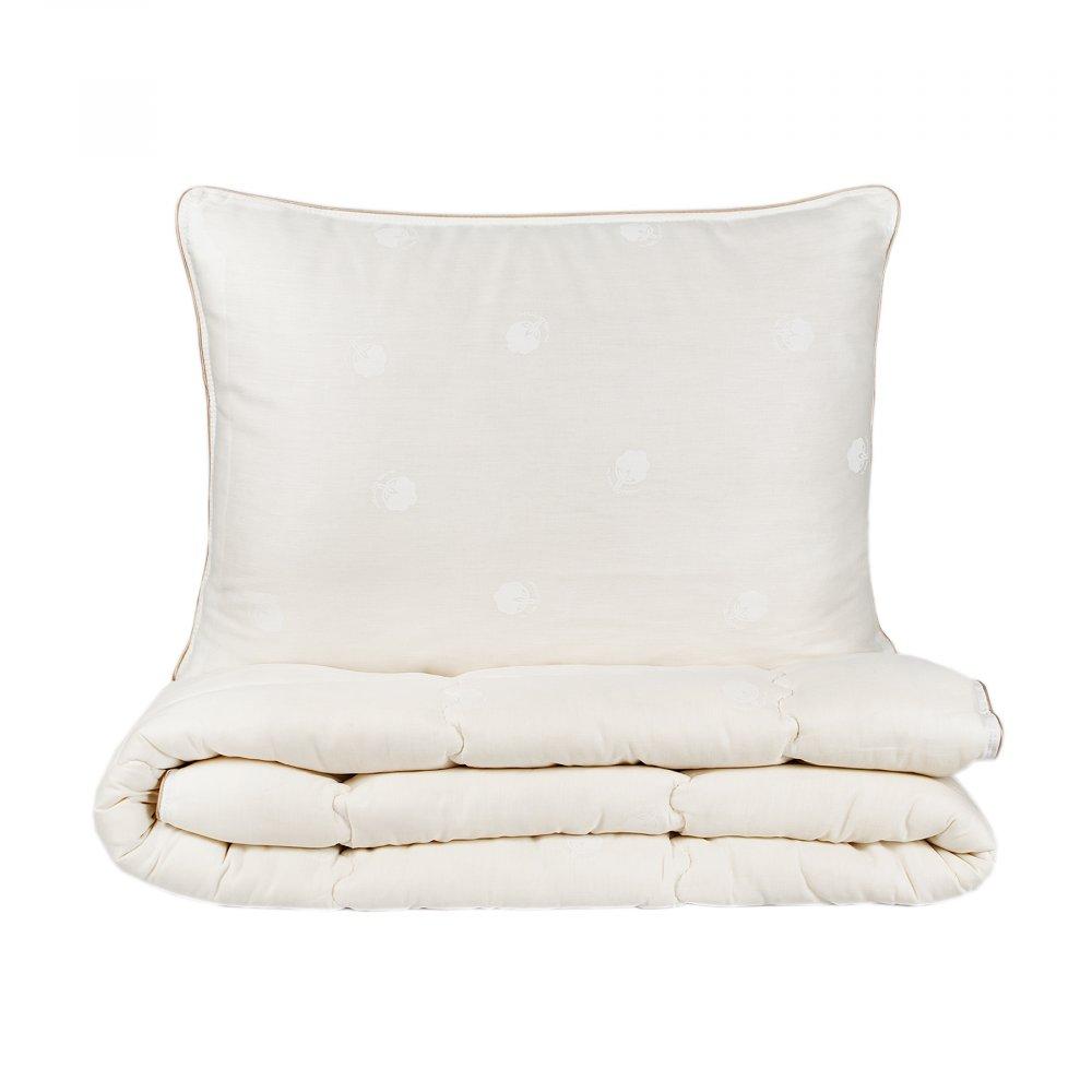 Набор одеяло с подушкой Karaca Home - Cotton хлопковый 155*215 евро