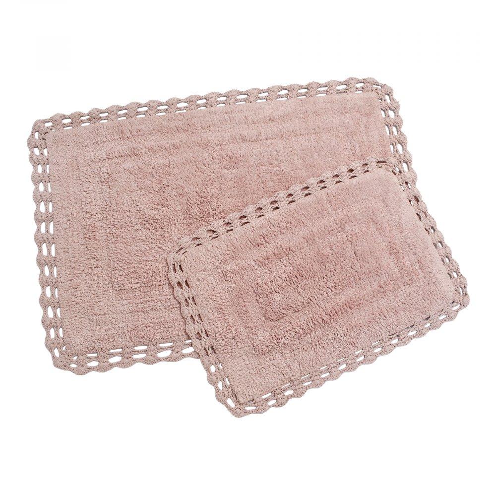 Набор ковриков Irya - Debra g.kurusu пудра 60*90+40*60