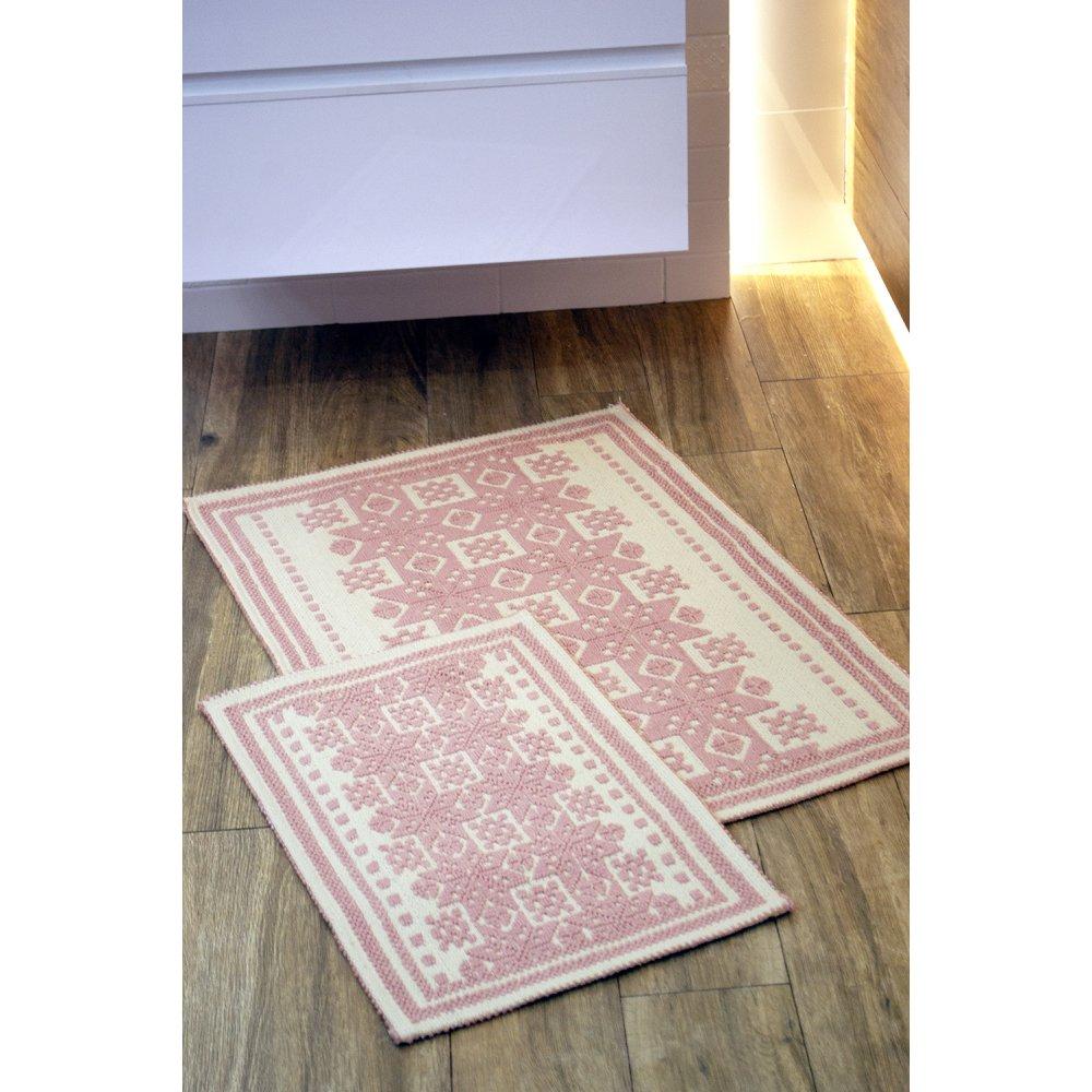 Набор ковриков Irya - Palmed pudra пудра 60*90+40*60