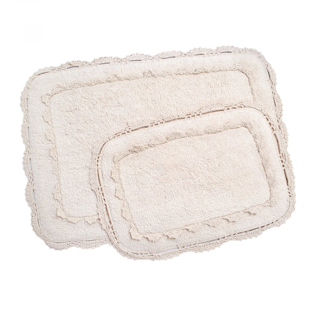 Набор ковриков Irya - Darya pudra пудра 60*90+40*60