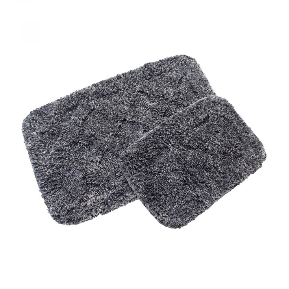 Набор ковриков Irya - Burns antrasit (Taslama) антрацит 60*90+40*60