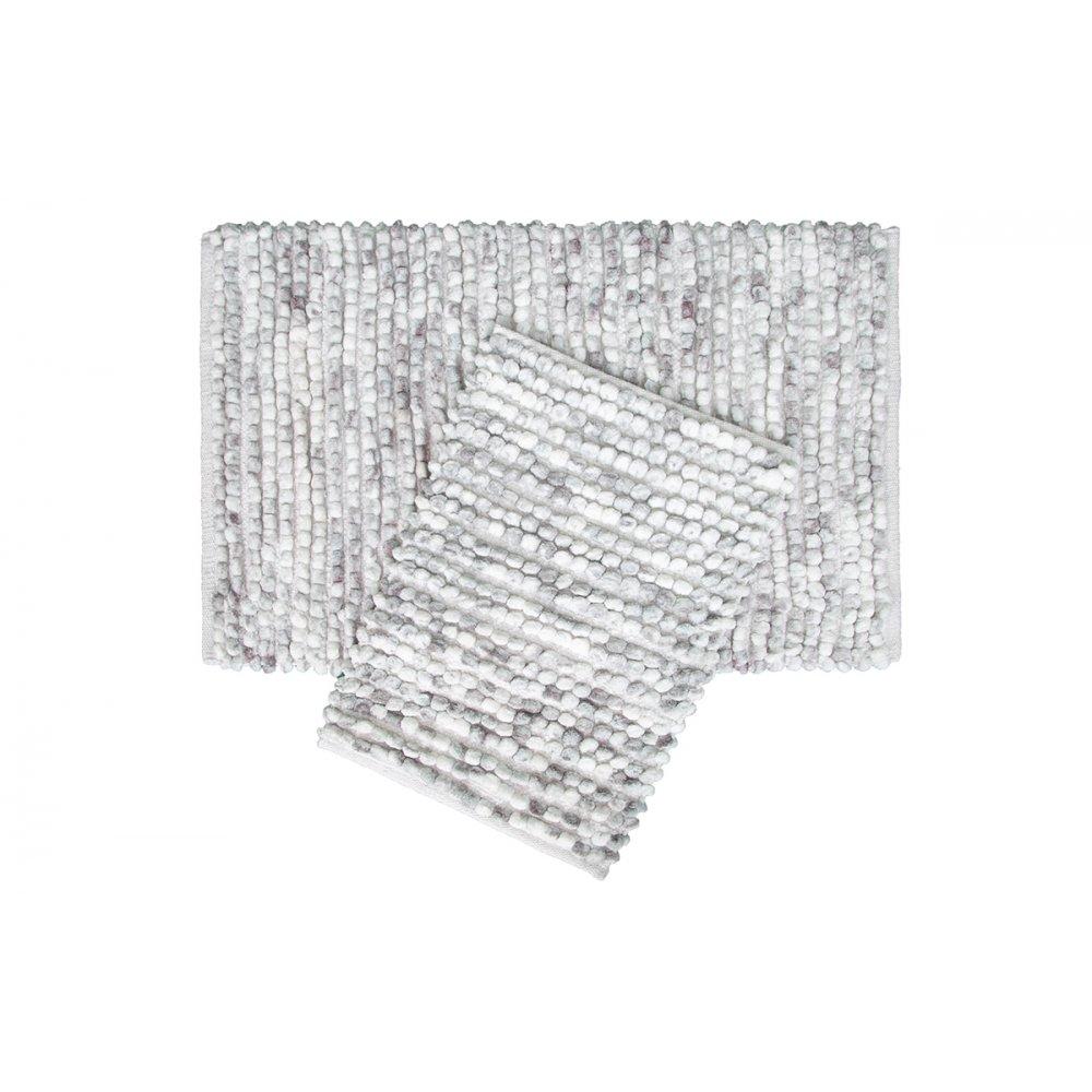 Набор ковриков Irya - Ottova silver серебро 60*90+40*60